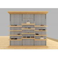 Quality Casual Shoe Shop Display Stands , Modern Footwear Display Shelves For Decoration for sale