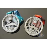 Smooth Back Finisher Metal Award Medals For Holiday Souvenir Decoration Manufactures