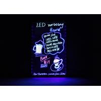 Flashing Erasable Neon LED Message Board For Kitchen Wedding Promotions Manufactures