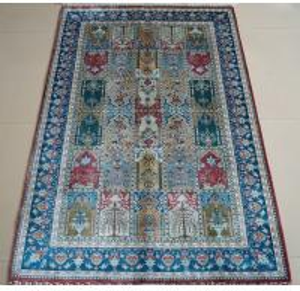 China wall decoration handmade silk prayer rug on sale