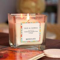 Glass Jar Scented Soy Wax Candle / Non Toxic Scented Candles With Luxury Packing Manufactures