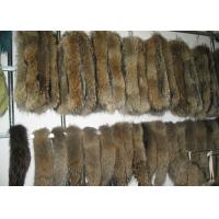 Brown Real Fur Hood Trim For Cloth , Raccoon Detachable Real Fur Collar 30 Cm * 80 Cm Manufactures