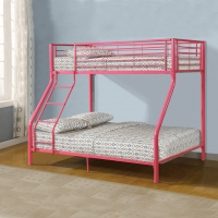 China Childrens Metal Twin Loft Bed With Slide on sale