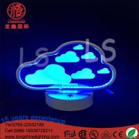 China LED acrylic cloudy 22cm battery operated remote control neon sign table lamps on sale