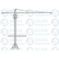 8 Tons 5513 55 m Boom Self Raising Mobile Tower Crane With 20 Meters Rail Manufactures