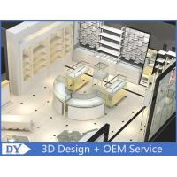 Customized Large Space Store Jewelry Display Cases Curve Or Oblong Shape Manufactures
