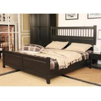 Dark King Size Solid Wood Bed Frame Safe Nontoxic Environment - Friendly For Hotel Manufactures