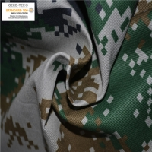 China Antistatic Camouflage Printed 280g Fire Retardant Cotton Fabric on sale