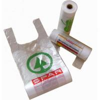 personalized Clear HDPE LDPE Printed T Shirt Plastic Bags On Rool for grocery Manufactures