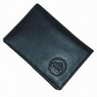Card Wallet, Made of Sheep Skin, Measures 10.5 x 7.5 x 1cm Manufactures