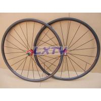 24T 20.5mm Tubular carbon fiber bicycle wheels with 3k glossy with DT350s hubs Manufactures
