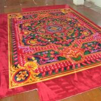 China Colorful Hand Tufted Wool Rug 8x10 Anti - Slip Feature Customized Size on sale