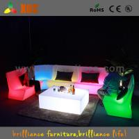 16 Colors Change Plastic Glowing sofa chair , Night Club LED Furniture Manufactures