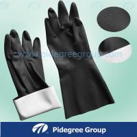 Lightweight Latex Industrial Gloves Nature Long With Double / Single Color Manufactures