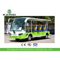 14 Passengers Electric Sightseeing Car , Electric Shuttle Bus With Fiber Glass Body Manufactures