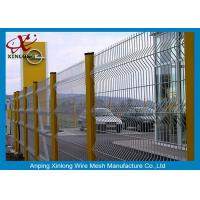 China Dark Green Welded Wire Mesh Fencing Panels , Wire Panel Fence Peach Shape Post on sale