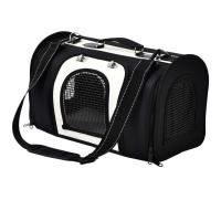 Black Color Pet Carrier Tote , Dog Carry Case Durable OEM / ODM Available Manufactures