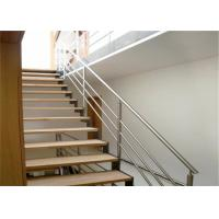 Modern Staircase Stainless Steel Balcony Railing Durable Balustrade Customized Size Manufactures