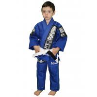 Waterproof Childrens Martial Arts Uniforms Blue and White kimono Manufactures