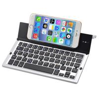 Folding Keyboard Portable Foldable Wireless Bluetooth Keyboard Aluminum Alloy Housing for iPhone,iPad,Tablet,Laptops Manufactures