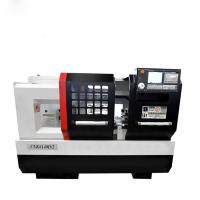 Flat Bed Siemens CNC Lathe Machine Lathe Machine High Precision 3200kg Weight Manufactures
