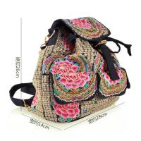 Quality Yunnan JIXIU new arrival canvas girls backpack promotional price school bag for sale
