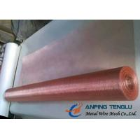 China Copper Woven Wire Mesh With C10200 & C11000, Standard ASTM E2016-06 on sale