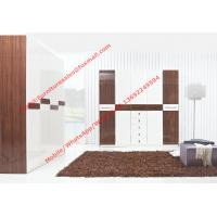 Quality Hotel Interior Design by project Furniture in-wall Wardrobe cabinet high glossy for sale