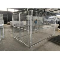 China Easily Assembled Dog Cage Gabion Basket Mesh High Tensile Strength 60 * 80mm on sale