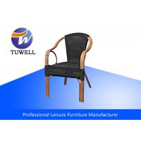Sturdy Rustproof Aluminum + PE Rattan Wicker Dining Chairs For Balcony Manufactures