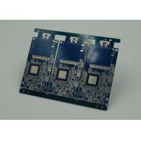 Quality Blue Solder Masking Controlled Impedance PCB with BGA Gold Plating for sale