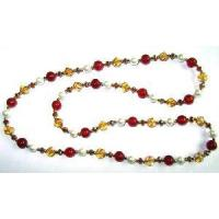 Carnelian and Seashell Bead Necklace (0238) Manufactures
