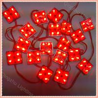 wholesale outdoor single color smd 3528 led module lens with square 4leds DC12v for channel letter Manufactures