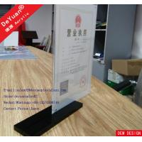 A4 Acrylic Display Stand Acrylic Card Holders Stands For Menu Holder Restaurant Manufactures