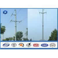 China Overhead Transmission Line Electric Power Pole with Material Steel Q345 Q456 , Gr50 Gr65 on sale