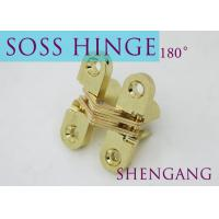 """Quality Satin Brass Soss Stainless Steel Concealed Hinges , Wings measure 3/8"""" Wide x 1-11/16"""" Long for 1/2"""" , SOSS #101 for sale"""