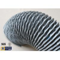 PVC Coated Fiberglass Fabric HAVC Flexible Air Duct 200MM Grey 260℃ Waterproof Manufactures