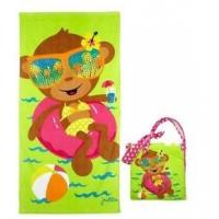 Pool Cotton Beach Towels Accessories , Kids Bath Wrap With Straps Manufactures
