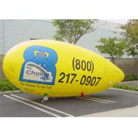 Customised PVC Inflatable Advertising Balloons Yellow Helium Zeppelin Balloon Manufactures