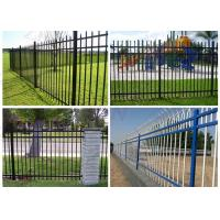 1800*2200mm Steel Spear Top Security Fencing Green Pressed Form Free Sample Manufactures
