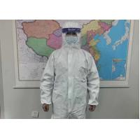 China Chemical Resistant Disposable Protective Suit Medical Scrub Clothing Microporous Type on sale