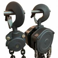 China Small Hoist Chain Block , Electric Chain Lift 0.5-30 Ton Black Color Material Lifting Applied on sale