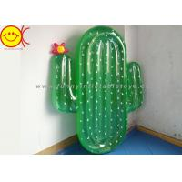 China EN71 Green Inflatable Cactus Pool Float for wholesale