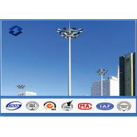 China 30M Steel Q345 Polygonal HDG High Mast Light Pole 4mm / 6mm / 8mm Thickness on sale
