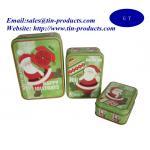 Christmas Rectangle Tin Box Set, Tin Box Set, Metal Box Set for Christmas Manufactures