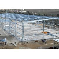Quality Hot - Dipped Galvanized Steel Frame For Garage With Colored Steel Roof /  Wall for sale