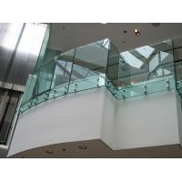Toughened clear glass fixing balustrade for glass balcony Manufactures
