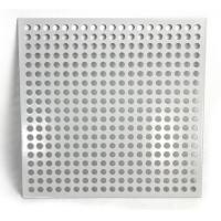 China Aluminum Square Hole Perforated Metal Sheet For Room Division on sale