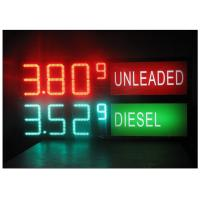 China LED Gas Station Sign for Oil Price , RF LCD Wireless Remote Control Digital 7 Segment Display on sale