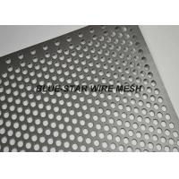China Fencing / Gate Aluminium Perforated Metal Sheet / Coil With 45 60 90 Degree Punching Hole on sale